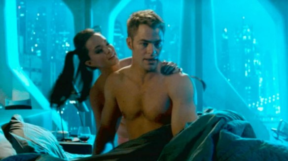 Oh, but thanks for the shirtless Kirk thing, there.  Whee!