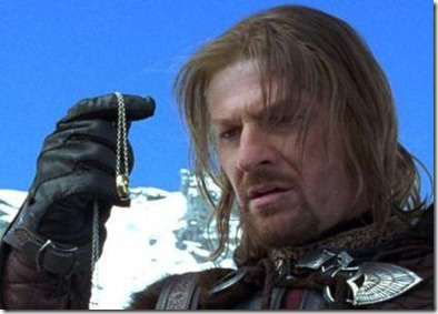 Hey, that's not a spoiler.  He's played by Sean Bean.  You know he's gonna die.
