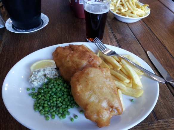 If you find a place with good fish and chips, you've found heaven.