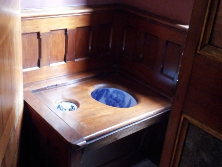 A Victorian flush toilet, in the loo in Lord Bute's bedroom
