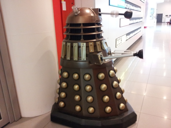 When you go to the Media Café to meet for the tour, you are greeted by an old friend.