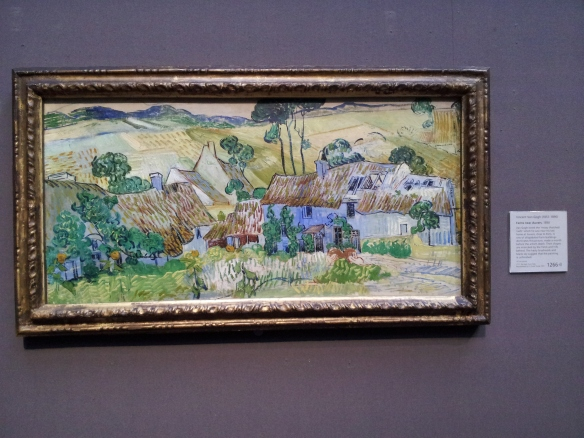 Farms Near Auvers - Vincent Van Gogh.  This is like the one I saw in Cardiff.