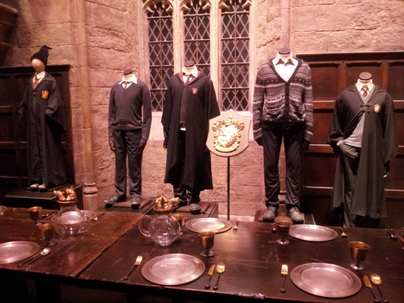Gryffindor costumes in the Great Hall.