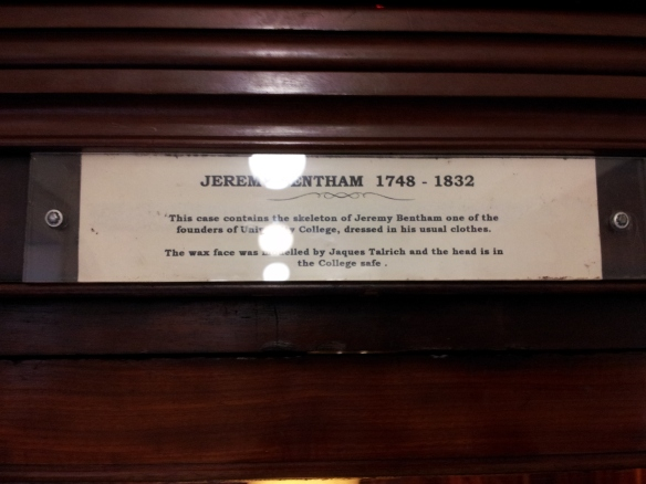 The plaque above the display cabinet.