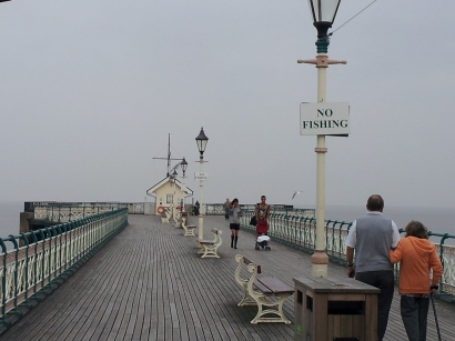 Looking down the pier, Penarth