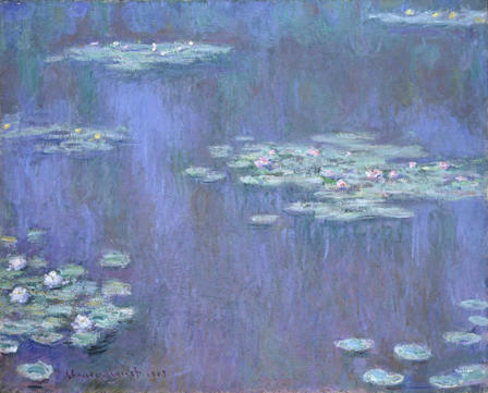 Paintings from Claude Monet's Water Lilies series.  Here is one.