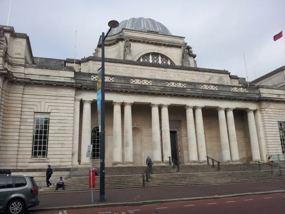 Here is the museum, right next to Cardiff City Hall.