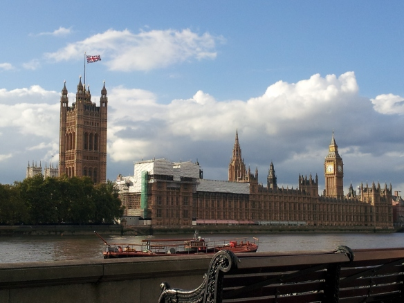 Parliament and Big Ben in the sun- London
