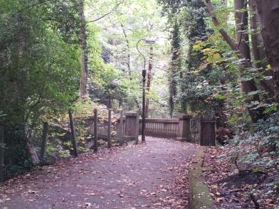 Path up the hill adjacent to Alexandra Park, Penarth
