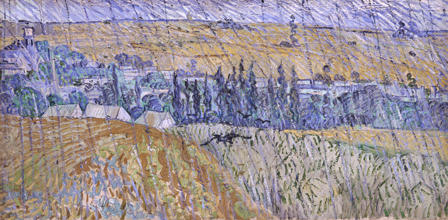 Rain, Auvers, by Vincent Van Gogh.
