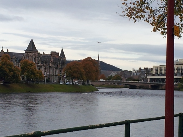 A shot of Inverness.  This is the River Ness, which flows through Loch Dochfour and through Inverness.
