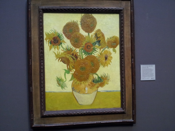 Sunflowers - Vincent Van Gogh.  This is the one I came to see!  :D  It did not disappoint.