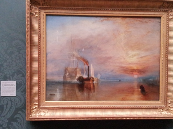 The Fighting Temeraire - Joseph Mallord William Turner. There is a Turner exhibit at the Tate Britain, which I am debating going to, but it costs £15 to get in. Kind of steep.