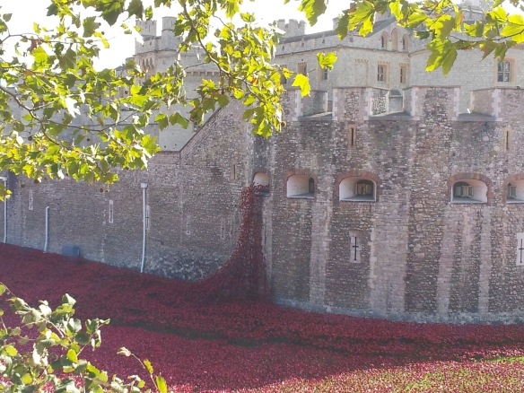 Poppies spill from the Tower as though it were bleeding.