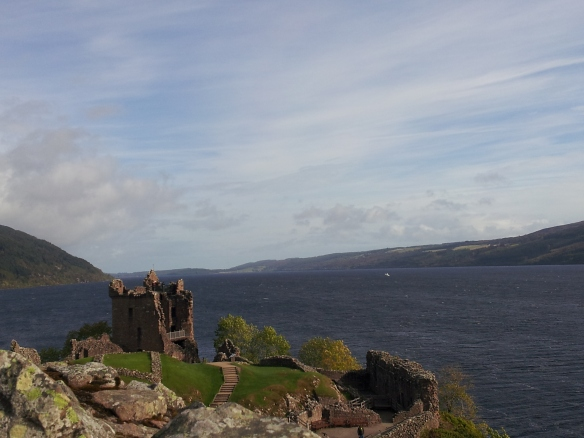 I told you that next time you saw this, it would be a picture by me.  Here ya go! This is Urquhart Castle from the citadel with the loch in the background.