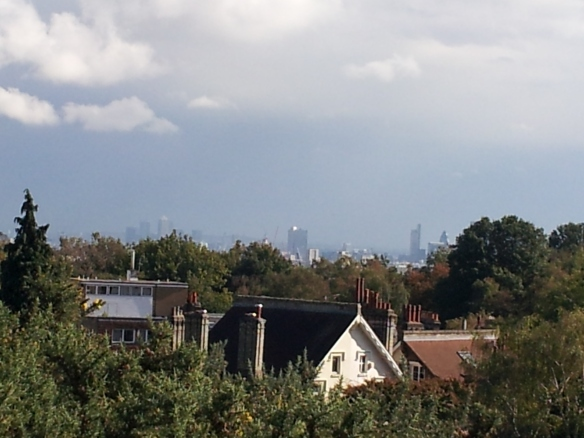 View of Central London from Hampstead Heath