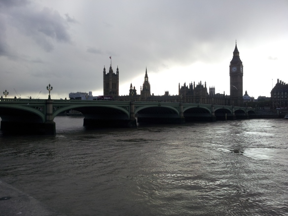 Westminster Bridge.  You can see the cloud coming.