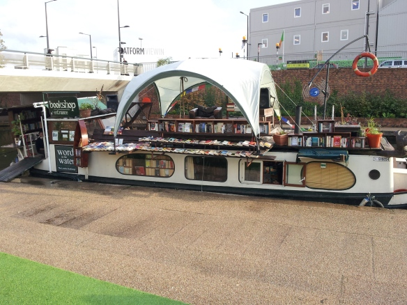 The book barge, Word on the Water. Step inside (watch your head) and discover a nice selection of used books.