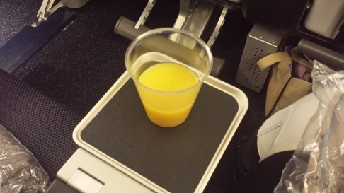 JUICE. OMG. And you have a little drink tray. No juggling your glass!