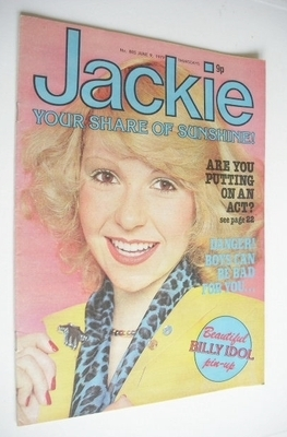 Jackie magazine, 9 June 1979.  I had this one, until my mum threw out all my mags and comics while I was at music college.  GAH, MUM!!!