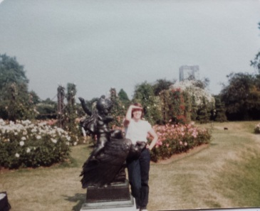 Me at 18, in Regent's Park rose garden.  Oh my God, what a dork.  #TBT (yeah, sorry, I know it's not Thursday)