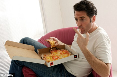 The pizza guy got hungry waiting for you to find your wallet in your messy house.