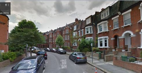 Image from Google Street View, Heath Hurst Road, Hampstead London