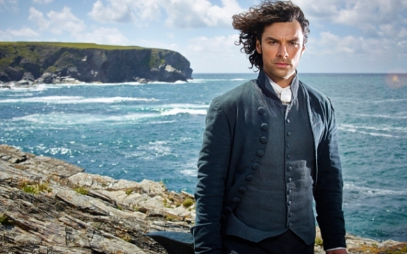 Aidan Turner who plays Ross Poldark.