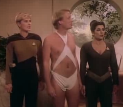 Whoever designed these costumes was really pushing it --it's a wonder the censors didn't kill them.