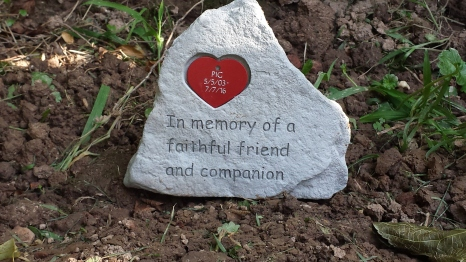 Her little gravestone.  <3