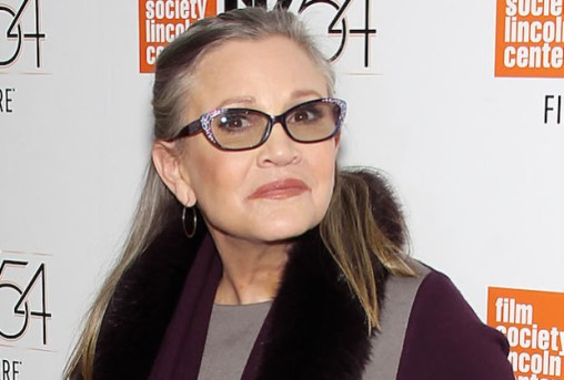 Mandatory Credit: Photo by Marion Curtis/StarPix/REX/Shutterstock (6196713x) Carrie Fisher with Dog Gary 54th New York Film Festival Screening of HBO's Documentary 'Bright Lights', USA - 10 Oct 2016
