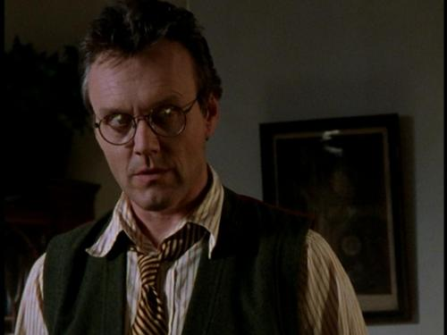 """""""I know the culprits who trashed the cemetery, Buffy,"""" Giles said."""